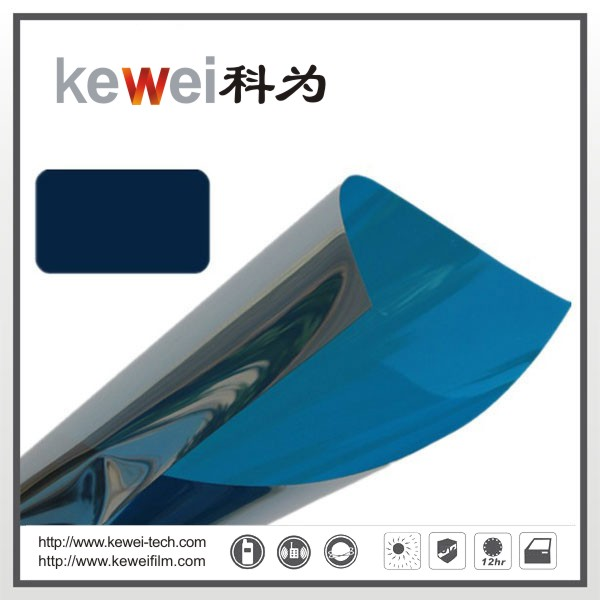 Window glass film/energy saving and decoration film(Blue Silver)