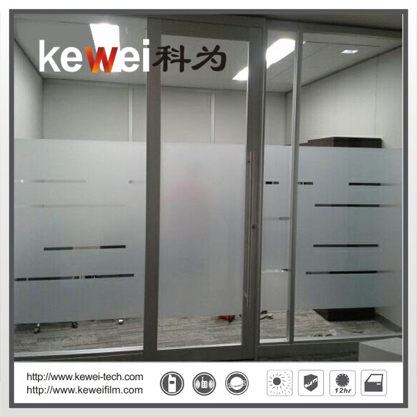 Decorative frosted window film sliding glass doors (Matte white)