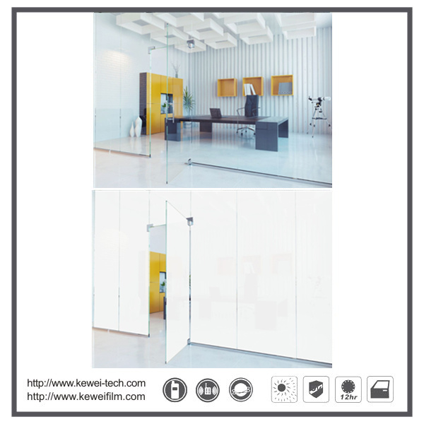 Roll size 1.5*30m PDLC Self-adhesive smart film for office. Roll size or sheet size are available