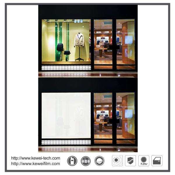 Remote tint, Self-adhesive smart film,PDLC Smart film for shopping mall