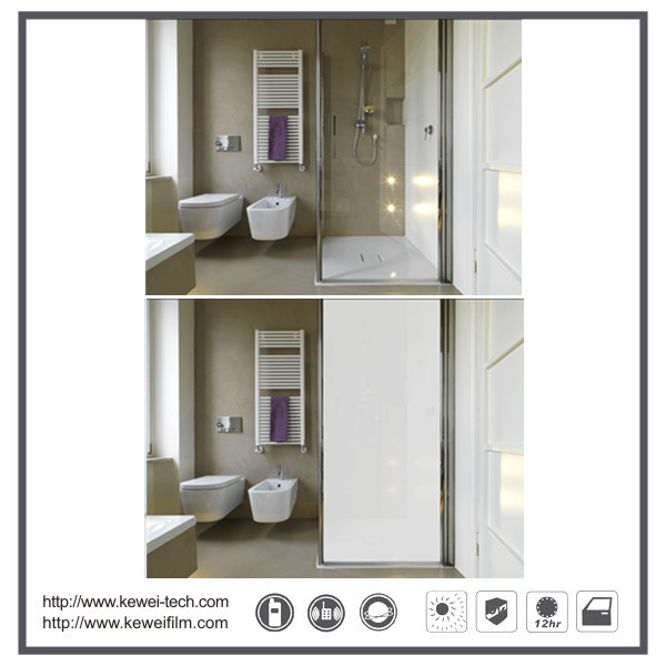 5+5mm electrically switchable smart glass ,Normal glass for bathroom